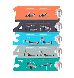 Abdominal exercise infographics banner vector image