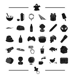 Appliance nipple and other web icon in black vector