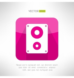 Audio system icon in modern flat design clean and vector