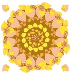 Autumn round pattern vector image vector image
