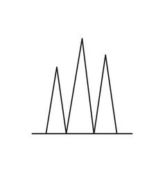 bar chart icon vector image
