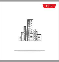 buildings icon city symbols vector image