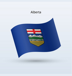 canadian province of alberta flag waving form vector image