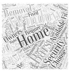 Choosing home window security bars word cloud vector