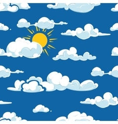 clouds weather seamless pattern vector image vector image