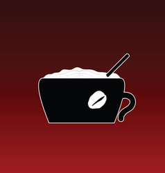 coffe in cup color vector image