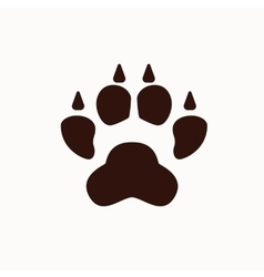 Dog foot silhouette isolated vector image