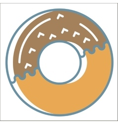 Donut icons collection vector