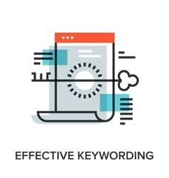 Effective keywording vector