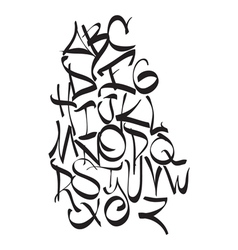 Expressive dynamic composition of a font vector image