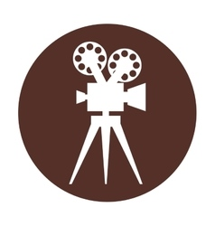Film movie camera icon vector