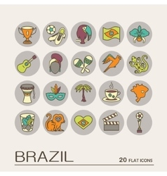 Flat icons brazil 9 vector