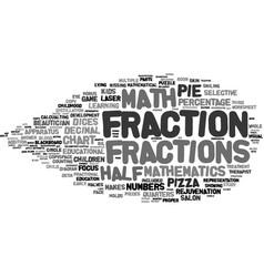 Fraction word cloud concept vector