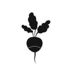 Fresh radish icon simple style vector