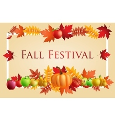 Fun fall festival invitation flyer vector