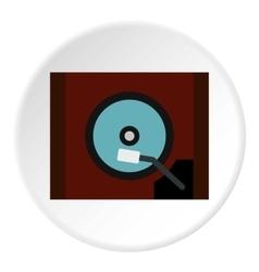 Gramophone icon flat style vector