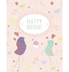 Greeting template card vector