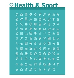 Healthcare and sport icon set vector