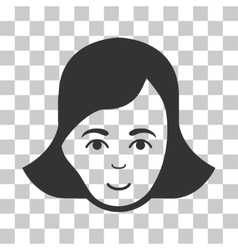 Lady face icon vector