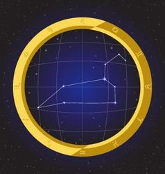 Leo star horoscope zodiac in fish eye vector