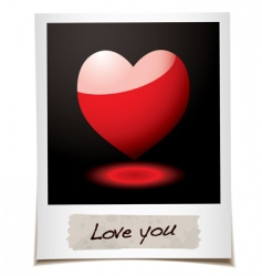 love photo vector image vector image