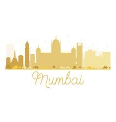 Mumbai city skyline golden silhouette vector