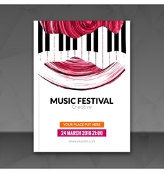 Music festival poster background Flyer template vector image vector image