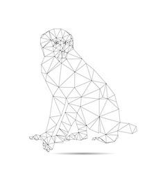 origami brown monkey vector image