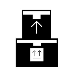 Pile boxes carton delivery icon vector