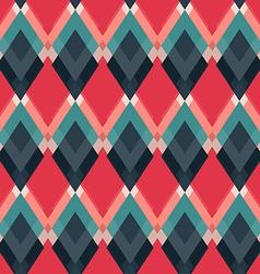 Retro red rhombus seamless pattern vector