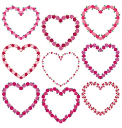 Rose heart frames vector