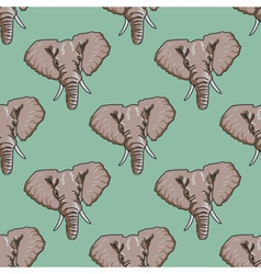 seamless background with elephant vector image