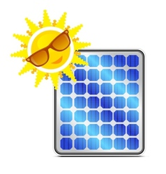 solar power panel vector image vector image