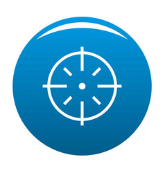 Specific target icon blue vector