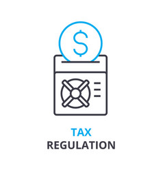 tax regulation concept outline icon linear sign vector image vector image