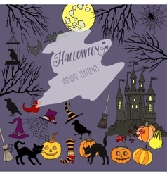 Halloween holiday decorations vector