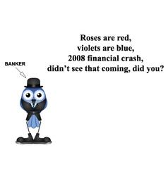 2008 financial crash poem vector image