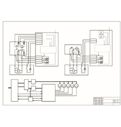 Schematic diagram power circuit vector