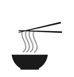 Noodle icon on the white background vector