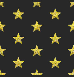 Gold glitter stars seamless pattern vector