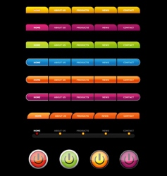 Set of colored buttons vector