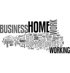 Work at home business opportunities thrive in vector