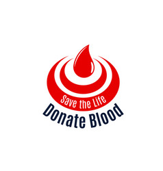 Blood drop icon for donor day vector