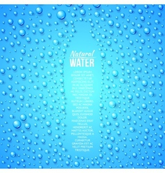 Bottle and water drops vector