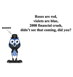 2008 financial crash poem vector