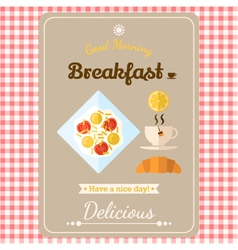 With labels breakfast vector