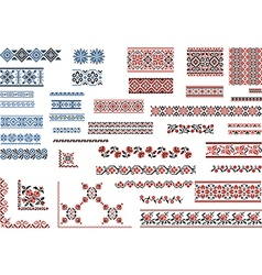 Patterns for embroidery stitch vector