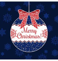 Merry christmas bow vector