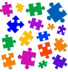 Jigsaw pieces illustration vector