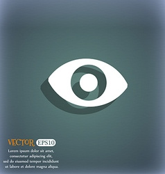Sixth sense the eye icon symbol on the blue-green vector